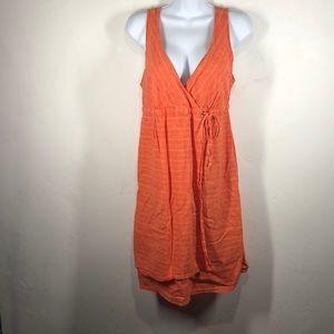 Patagonia orange crossover dress size 10